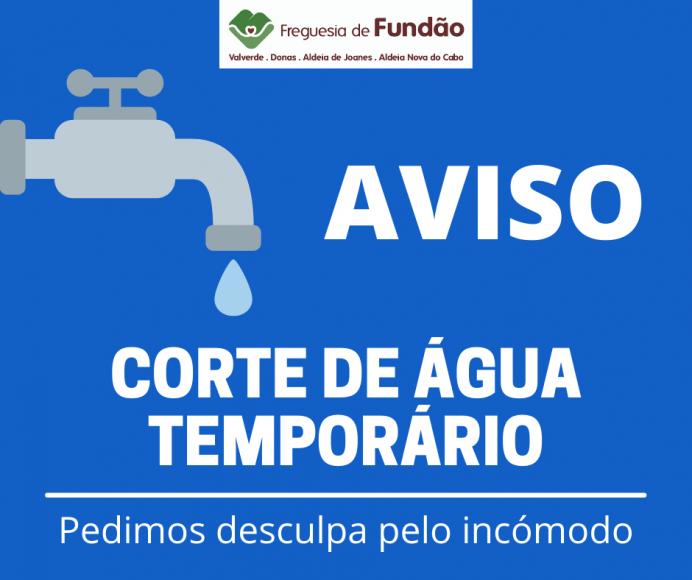 Corte de Água Temporário: Zona Industrial do Fundão